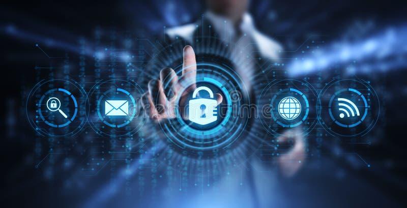 Concept de technologie d'Internet d'intimit? de l'information de protection des donn?es de s?curit? de Cyber photos stock