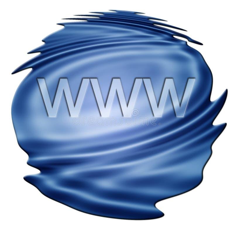 Concept de technologie d'Internet : WWW illustration stock