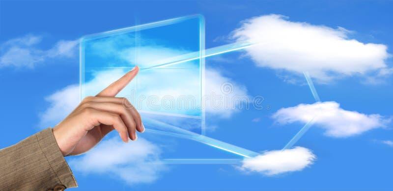 Concept de technologie de calcul de nuage photographie stock