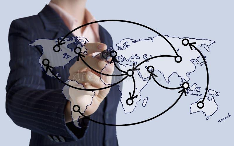 Concept de technologie de logistique photographie stock