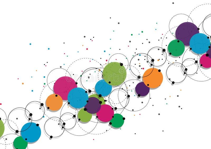 Concept de technologie de vecteur Lignes et points reliés Signe de réseau illustration stock