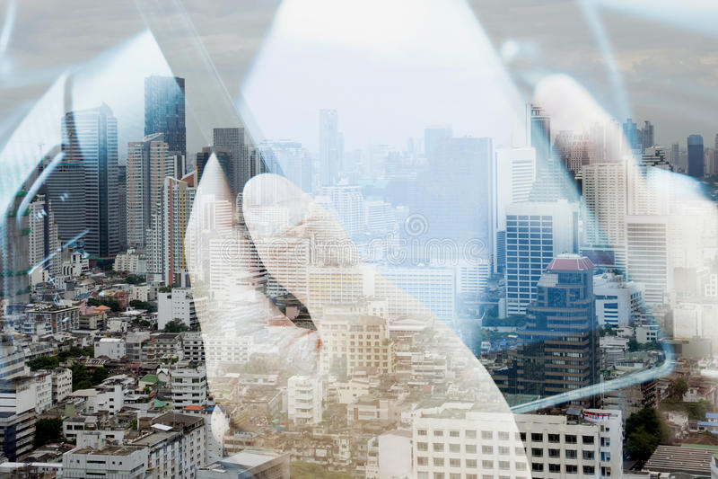 Concept de technologie des communications photographie stock