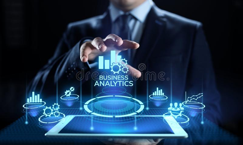 Concept de technologie de donn?es de BI d'analyse d'intelligence d'analytics d'affaires grand illustration de vecteur