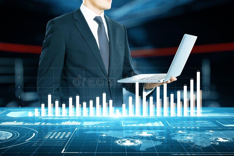 Concept de technologie et de finances photographie stock libre de droits