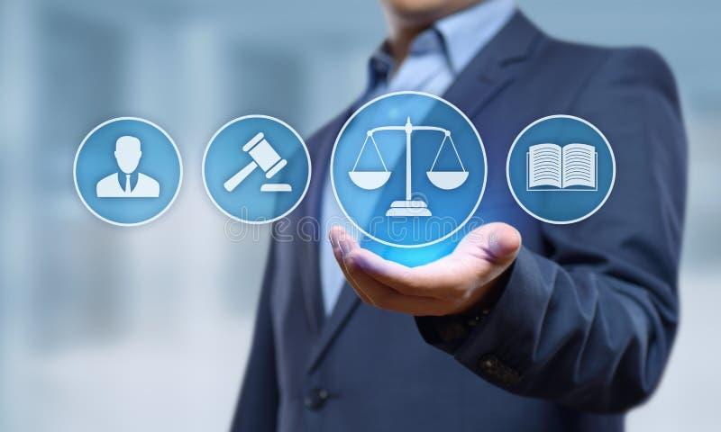 Concept de technologie de Legal Business Internet d'avocat de droit du travail photos libres de droits