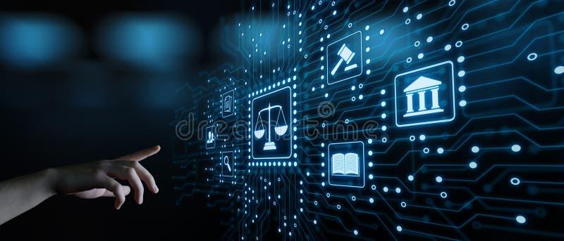 Concept de technologie de Legal Business Internet d'avocat de droit du travail