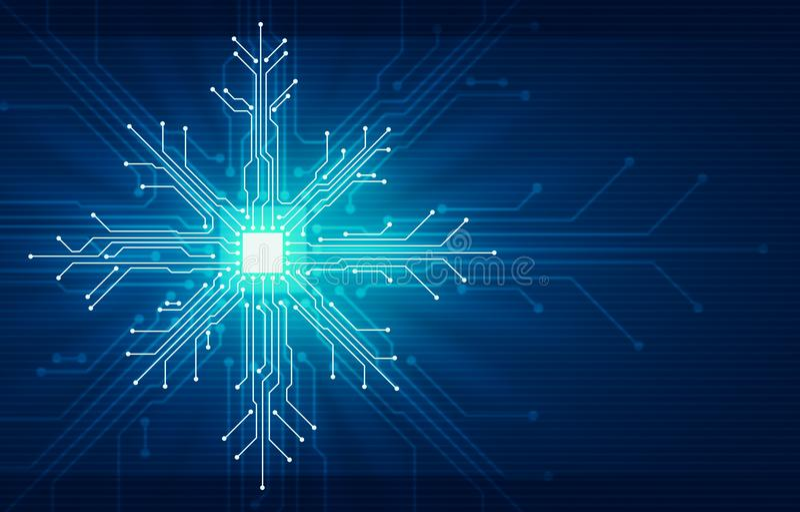Concept de technologie de Noël de nouvelle année de Showflake illustration de vecteur