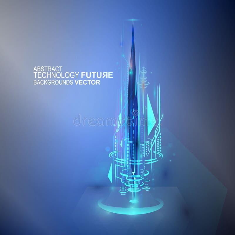 Concept de technologie numérique de vecteur futur, fond abstrait illustration de vecteur