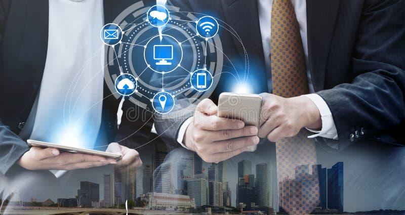 Concept de technologie de t?l?communications de t?l?phone portable image libre de droits