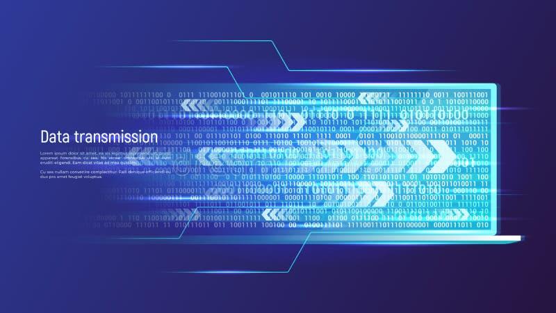 Concept de technologie de transmission de données Illustration de vecteur illustration de vecteur
