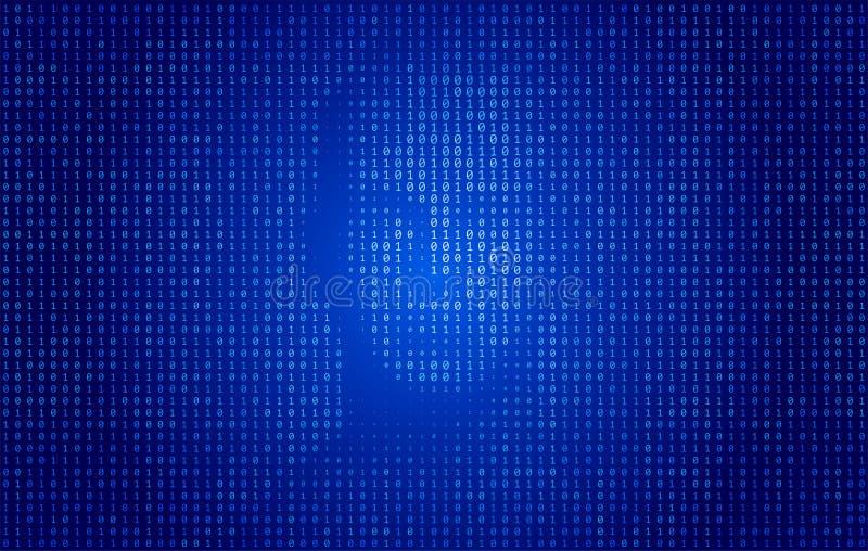 Concept de technologie de visage de code binaire illustration stock