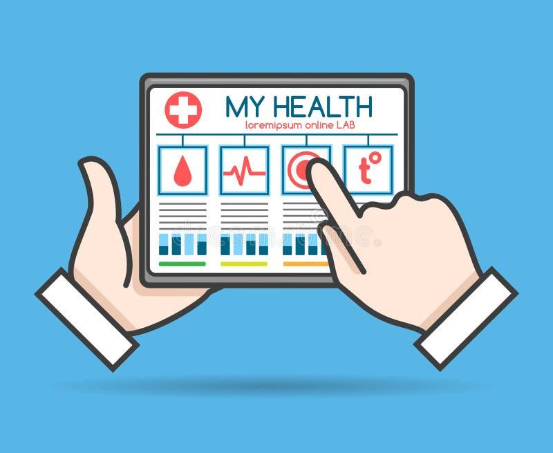 Concept de telehealth de Tablette illustration libre de droits