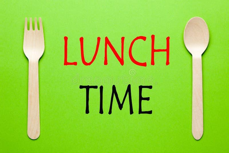 Concept de temps de déjeuner image stock
