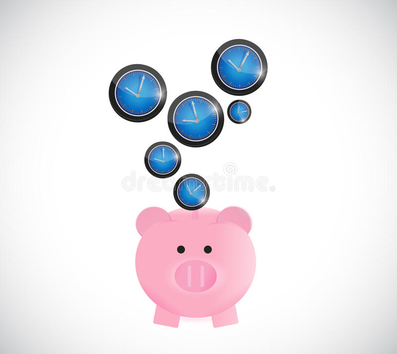 Download Concept De Temps D'économie De Tirelire Illustration Stock - Illustration du main, devise: 45358364