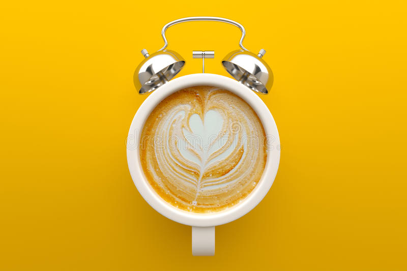 Concept de temps de café, art de Latte illustration de vecteur