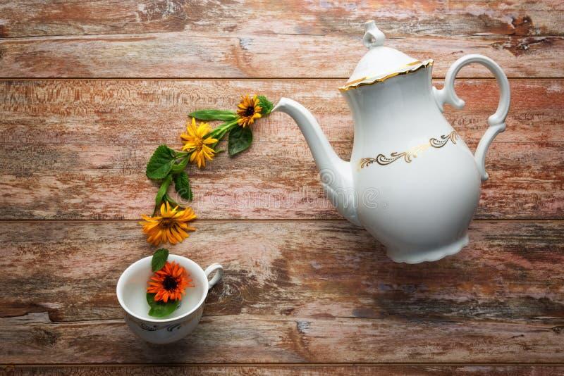 Concept de temps de thé images libres de droits