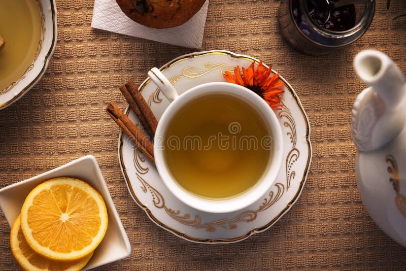 Concept de temps de thé photographie stock