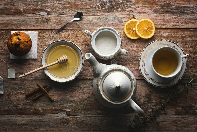 Concept de temps de thé photographie stock libre de droits