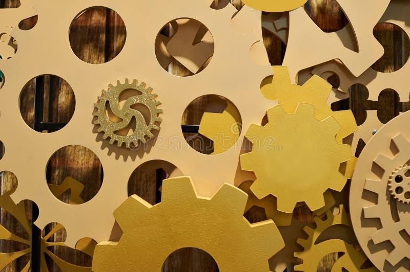 Concept de texture en bois de mécanisme de vitesse de fonctionnement photos stock