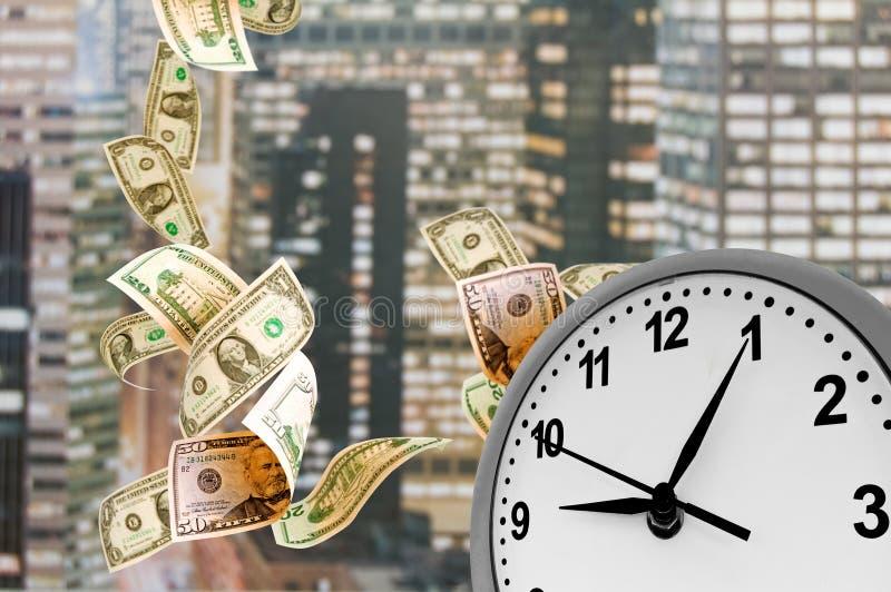 Concept - de Tijd is geld. stock foto