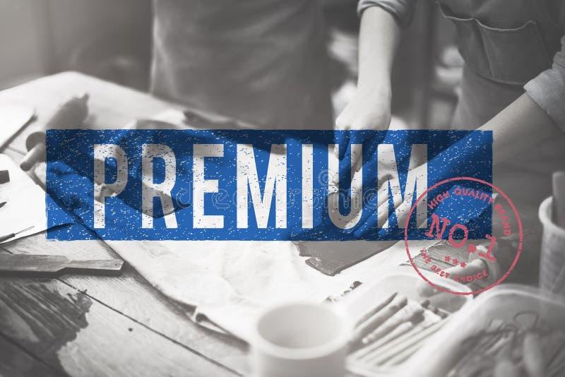 Concept de timbre approuvé par qualité de la meilleure qualité photographie stock libre de droits