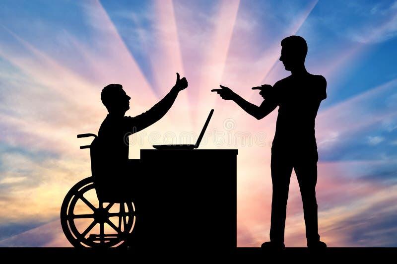 Concept de tolérance et d'égalité pour des personnes handicapées photos stock