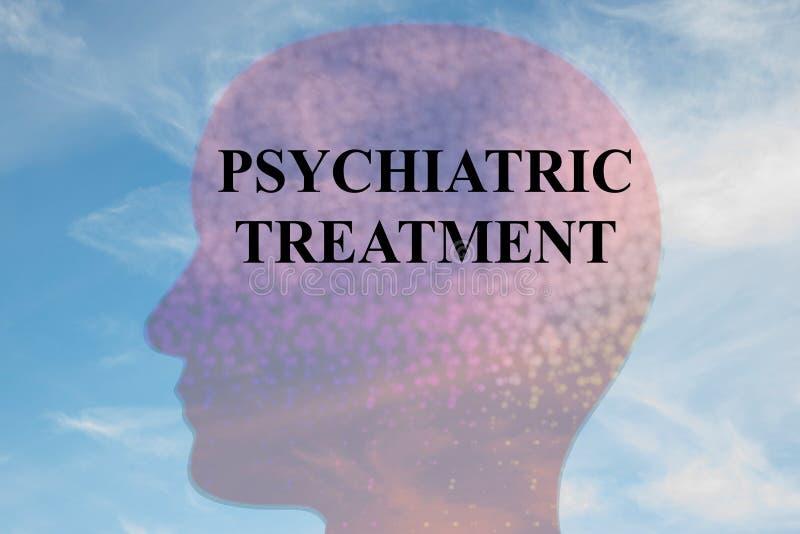 Concept de traitement psychiatrique illustration libre de droits