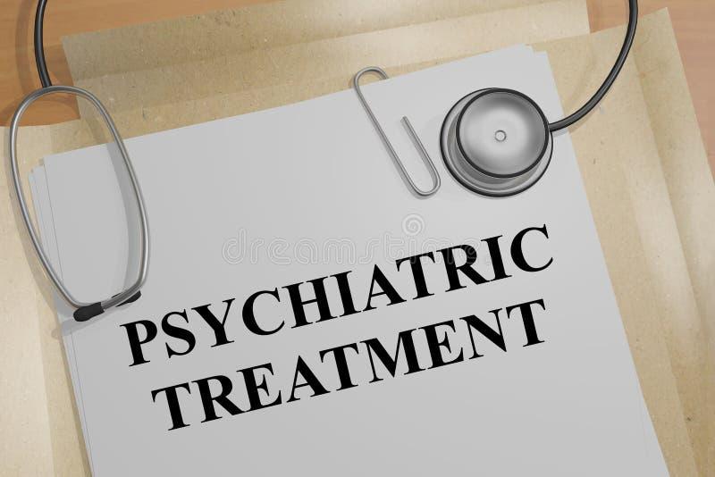 Concept de traitement psychiatrique illustration de vecteur