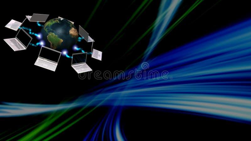 Concept de transmission avec le fond abstrait illustration stock