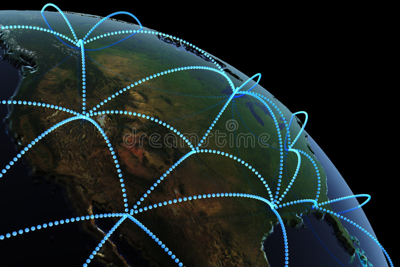 concept de transmission global illustration de vecteur