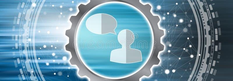 Concept de transmission de messages en ligne illustration de vecteur