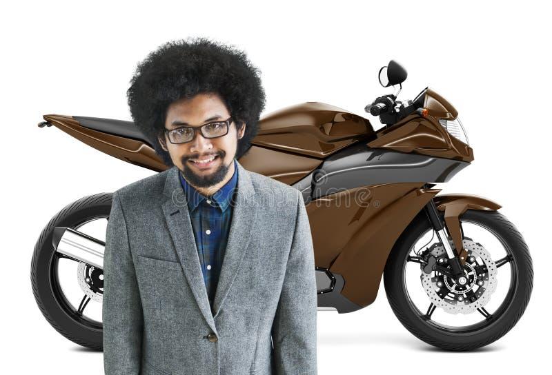 Concept de transport de roadster de vélo de moto de motocyclette illustration de vecteur