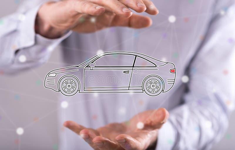 Concept de transport de voiture photographie stock libre de droits
