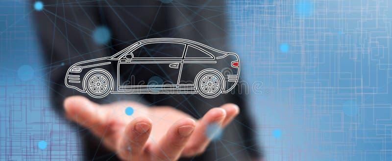 Concept de transport de voiture images libres de droits