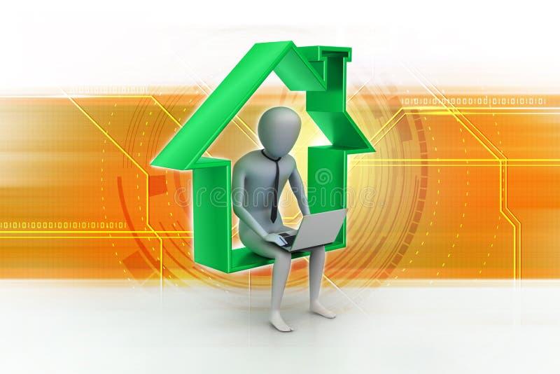 Concept de travail à la maison illustration libre de droits