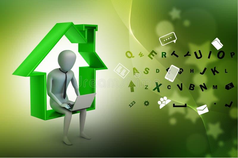 Concept de travail à la maison illustration stock