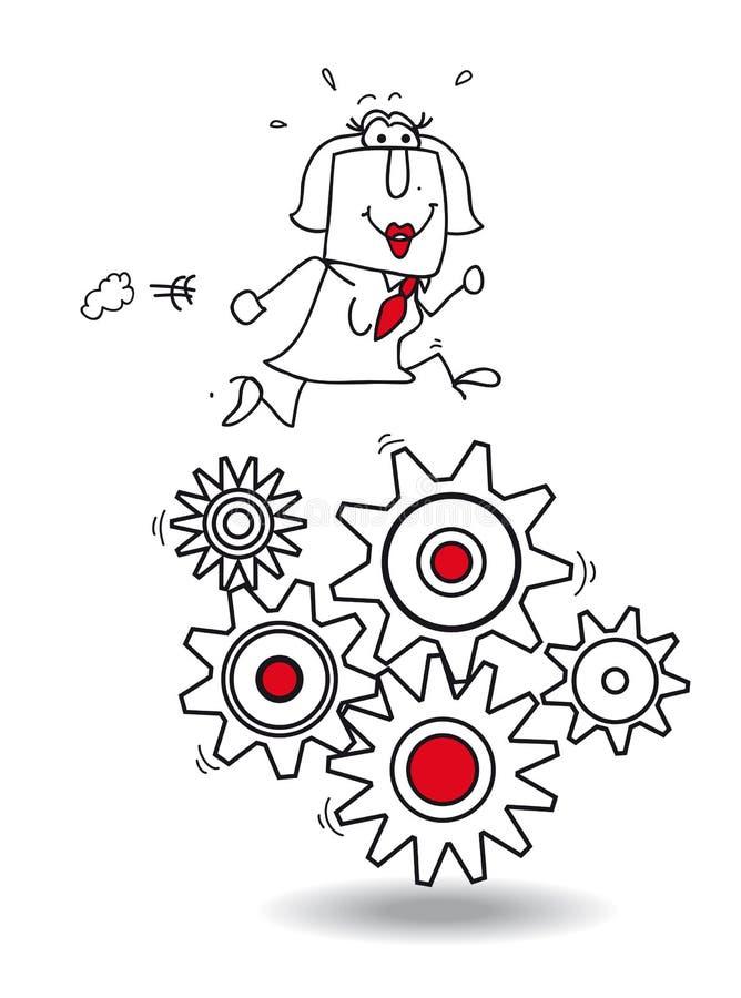 Concept de travail illustration de vecteur
