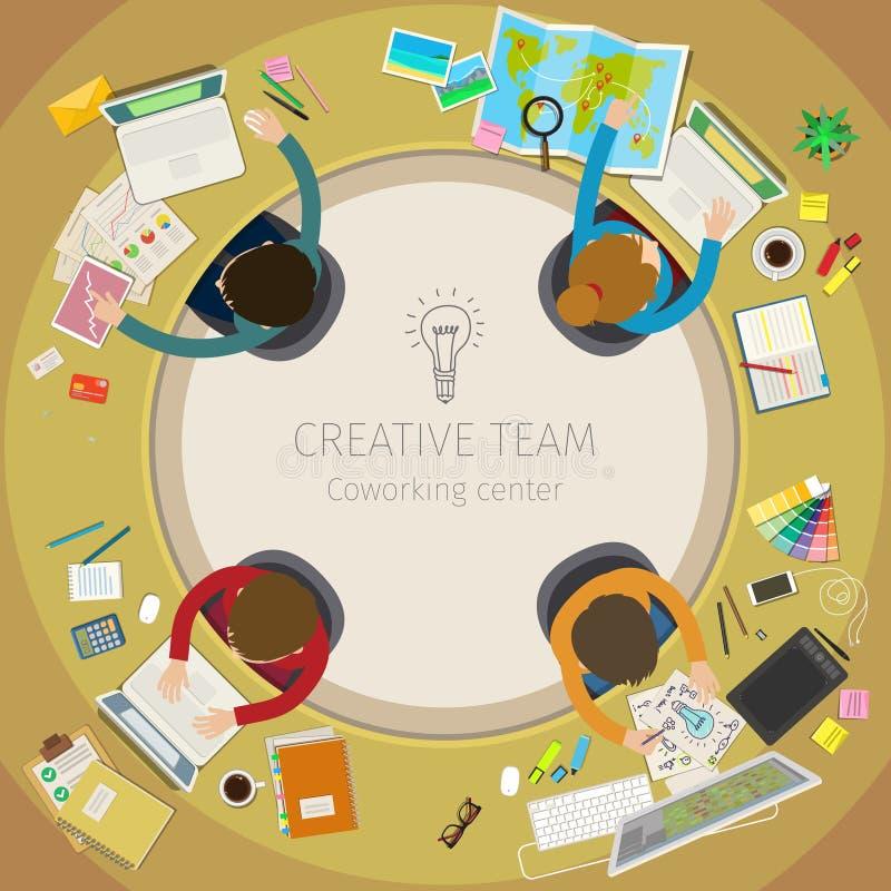Concept de travail d'équipe créatif illustration de vecteur