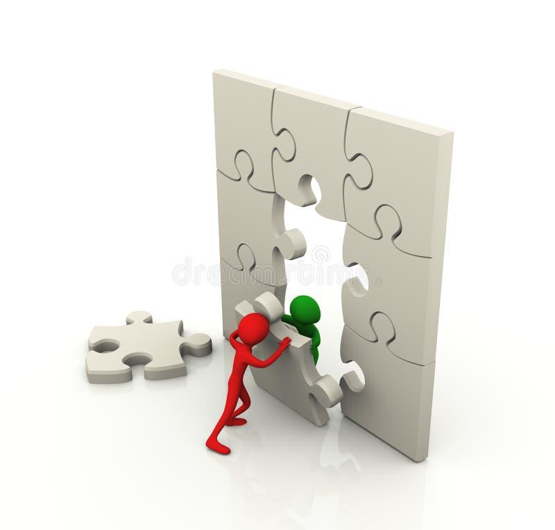Concept de travail d'équipe de puzzle illustration de vecteur