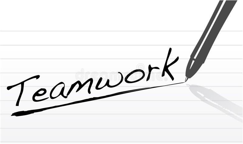 Concept de travail d'équipe de vente d'affaires illustration stock