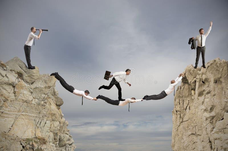 Concept de travail d'équipe et de succès photo libre de droits