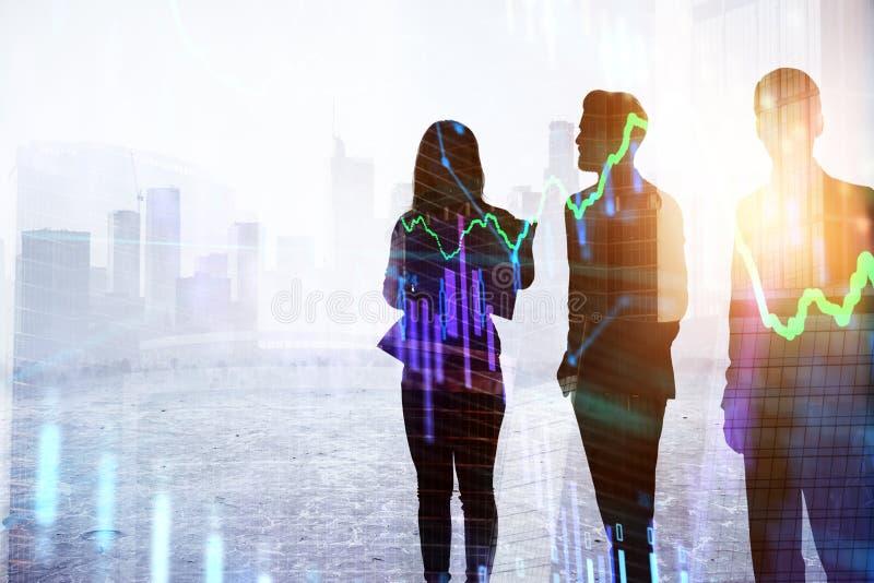 Concept de travail d'équipe et de finances image libre de droits