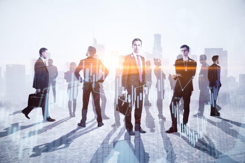 Concept de travail d'équipe, de réunion et d'argent photos libres de droits