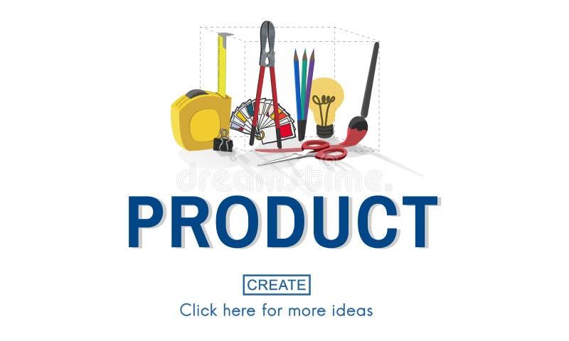 Concept de travail d'instrument de métier de créativité de produit illustration stock