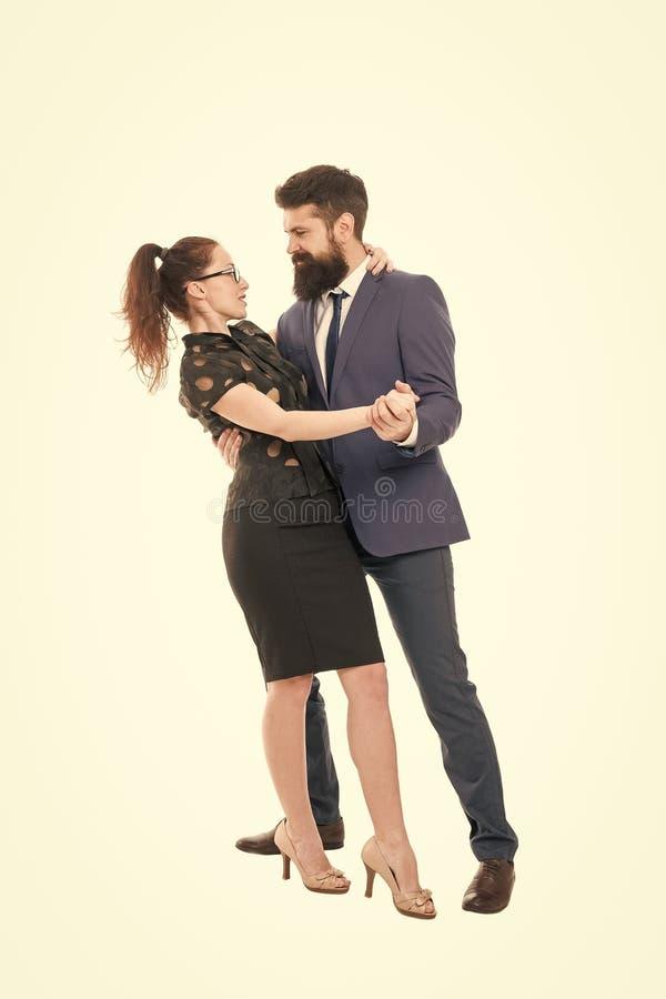 Concept de travail de rêve Affaire de bureau Flirter avec le patron Les premières impressions sont tout L'homme et la femme sont  image stock