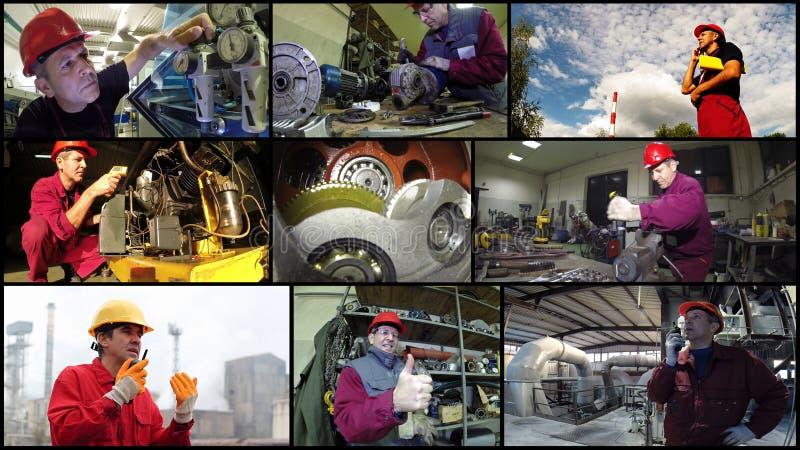 Concept de travailleurs industriels - collage de photo image libre de droits
