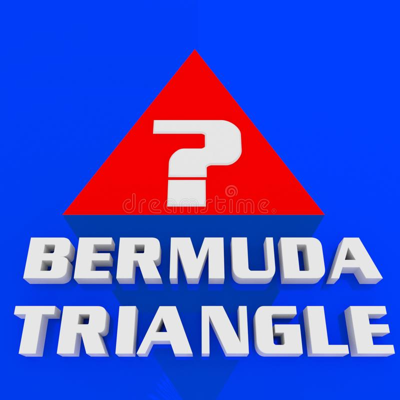 Concept de TRIANGLE des BERMUDES illustration stock