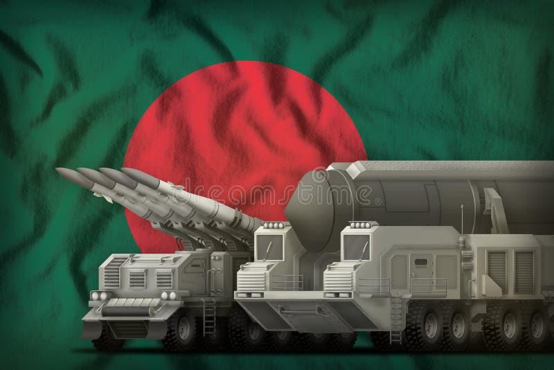Concept de troupes de fusée du Bangladesh sur le fond de drapeau national illustration 3D illustration de vecteur