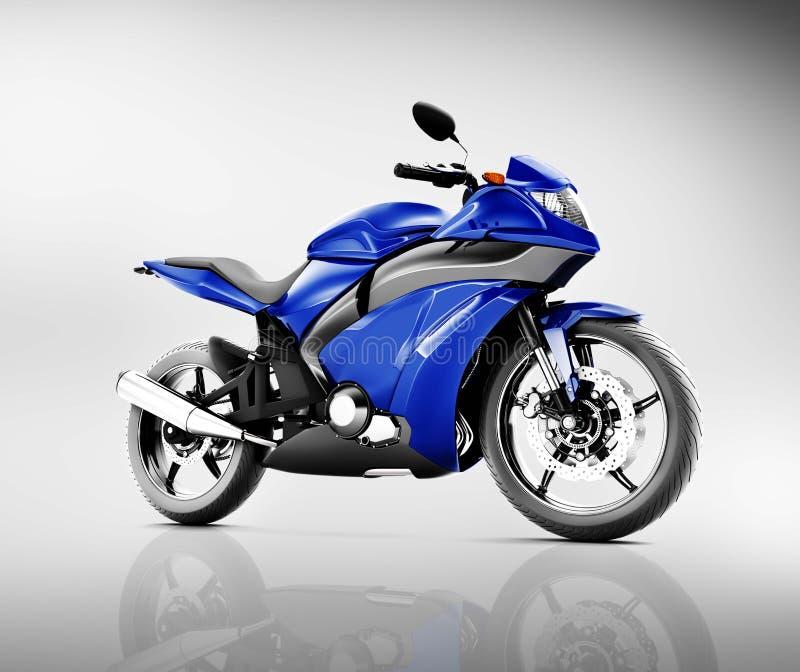 Concept de véhicule de motocyclette de moto de Brandless illustration de vecteur