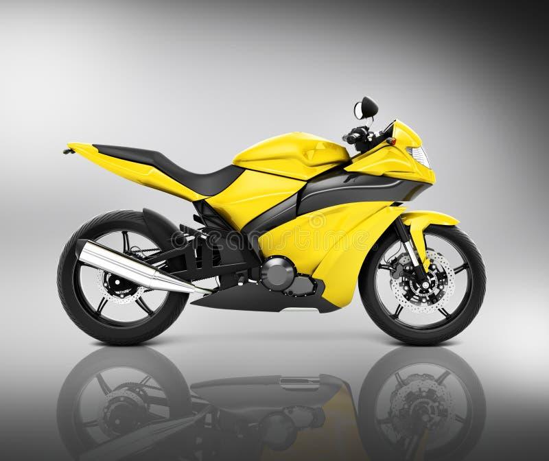 Concept de véhicule de motocyclette de moto de Brandless illustration libre de droits